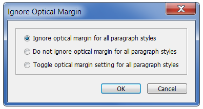 Optical Margin Alignment Script