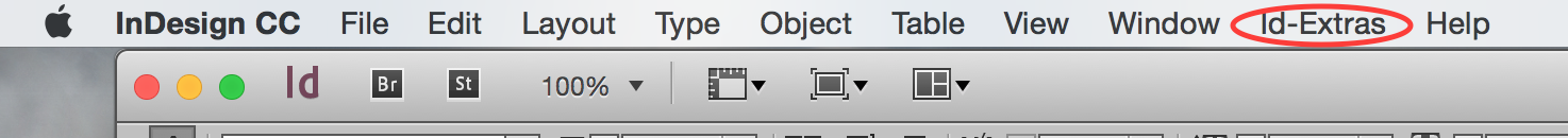 Id-Extras menu, Mac