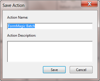Name the Acrobat action
