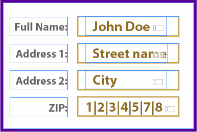 Form in InDesign