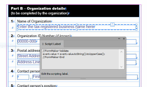 Using FormMaker to Add Validation Scripts to a PDF Form in